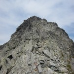 Summit ridge (easiest route stays to left ridgeline)