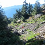 Re-ascending to the Mt. Seymour trail