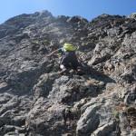 Downclimbing 3rd class terrain